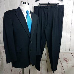 Tommy Hilfiger Dillards Dark Blue Striped 2pc Suit